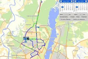Вывод маршрута движения на карту
