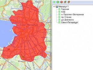 Обозначение населенных пунктов контрольными зонами