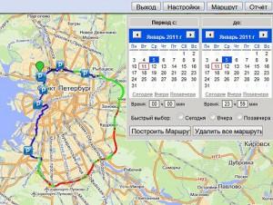 Отображение маршрута движения на карте