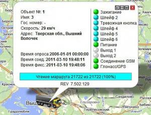 Онлайн-информация о местонахождении и состоянии автомобиля